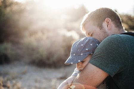Familj, personer, förälder, Fader, Pappa, Baby, Kid