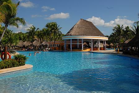 Cancun, Havuzu, poolbar, havuz, su, Yüzme Havuzu, lüks