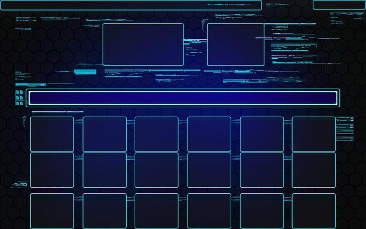 Technológia, UI, používateľské rozhranie, Tech, Hologram, futuristické, dizajn