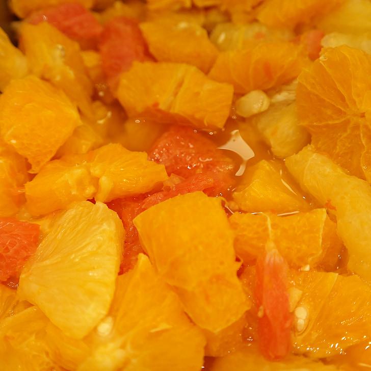 taronja, Amanida de fruites, picat, fruita, rodanxes, Nutrició, aliments