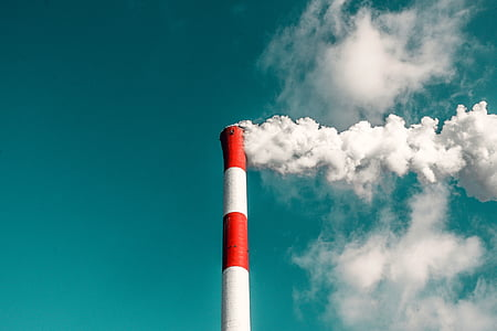 дим, хмари, небо, вежа, Структура, Інфраструктура, забруднення