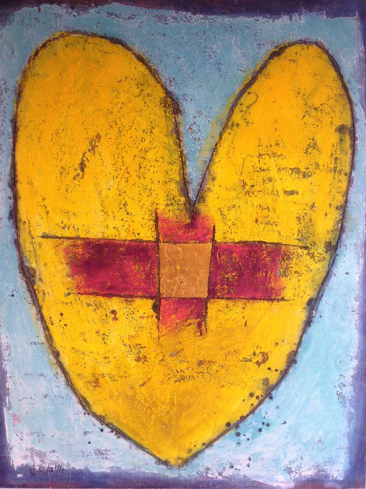srdce, kríž, liečenie, kresťanstvo, Svätý, Kristus, Jan sa