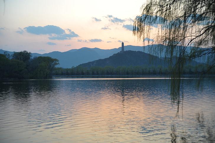 yuquan mountain, hoàng hôn, cung điện mùa hè