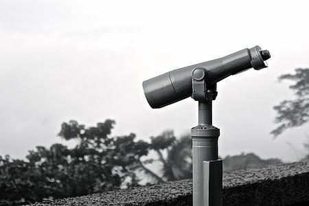 view, vision, travel, telescope, sky, binocular, technology