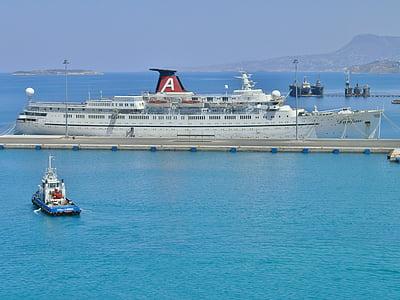 kryssningsfartyg, Princes daphne, hamn, Madeira, Holiday, vatten, sommar