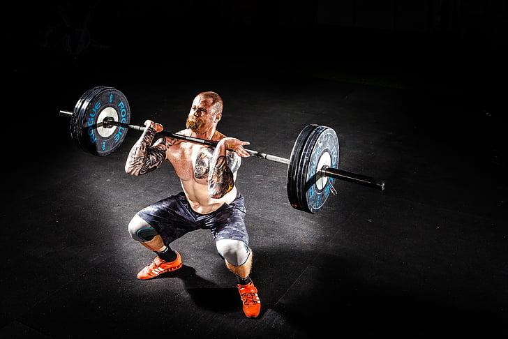 stienis, kultūrisms, intensitātes, uzdevums, fitnesa, trenažieru zāle, vīrietis