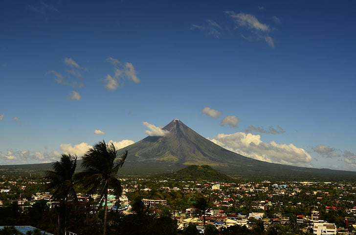 volcan, Mayon, Philippines, nature, montagne, l'Asie, volcanique