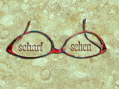 แว่นตา, แก้ว, เลนส์, ภาพรวม, กรอบแว่นตา, แว่นตา, ดู