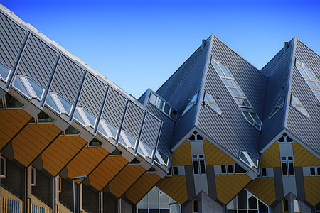 rotterdam, cube houses, real estate, city, netherlands, buildings, historical center