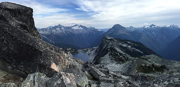 montanhas, pico, Vista aérea, gama, Cordilheira, topo da montanha, alta