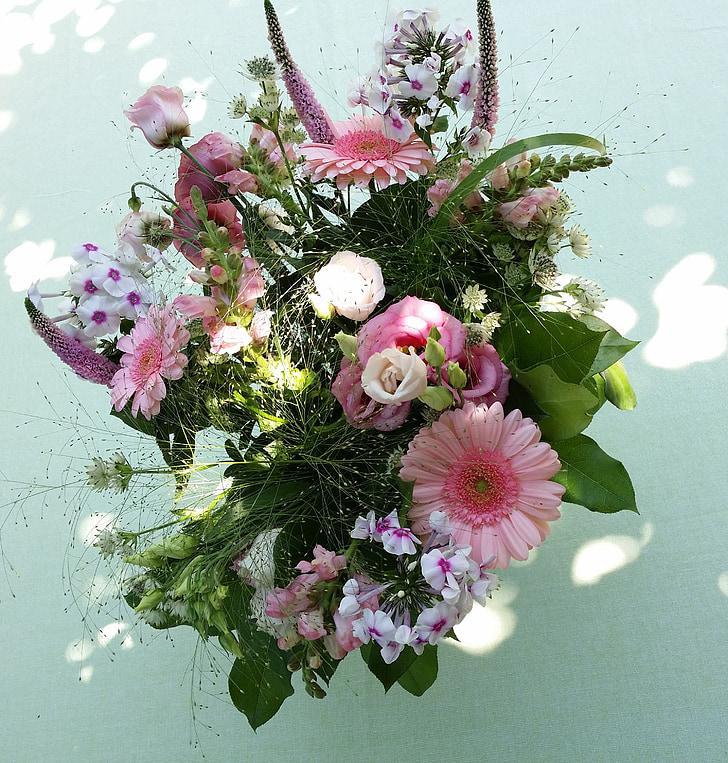 bouquet de verano de ramo de flores, THX, Gerbera, ramo de la, flores, rosa, regalo