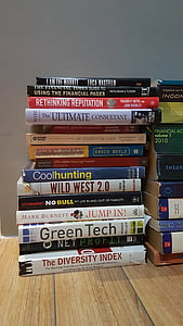 books, collection, business