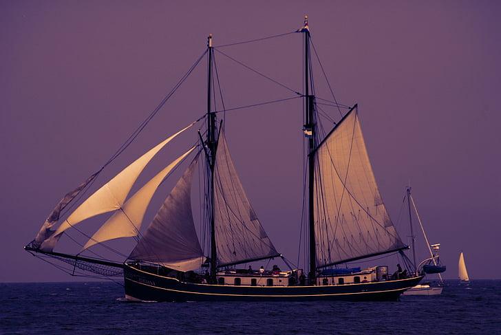 baltic sea, sail, ship, sea, coast, boats, sailing boat