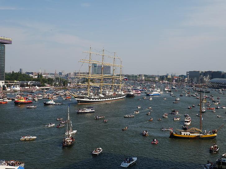 segel, Amsterdam, båtar, segelbåt, båt, fartyg, vatten