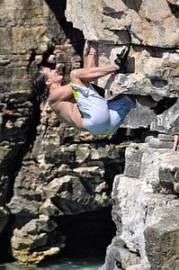 climbing, climb, climber, nature, leisure, mountaineer, rock climbing
