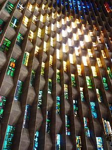 finestra de vidre, llum, l'església, Coventry, Catedral, arquitectura, finestra