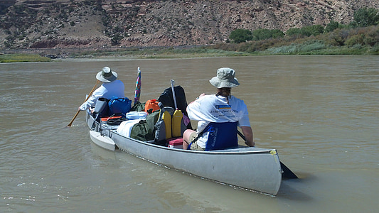 canoë-kayak, bateau, pagaie, eau, canoë, été, sport