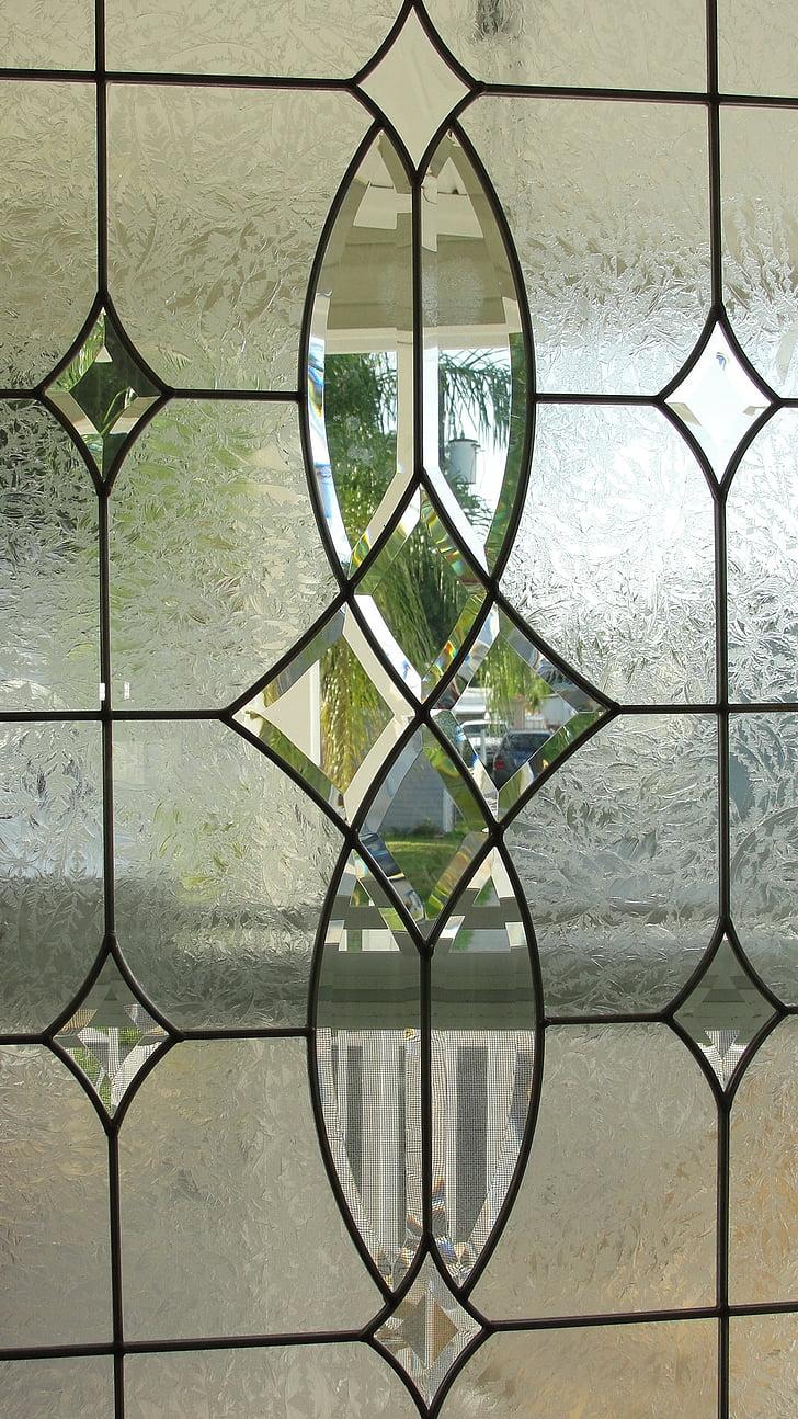 แก้วตะกั่ว, ประตู, แก้ว, หน้าต่าง, กระจกประตู, ตกแต่งภายใน, บ้าน