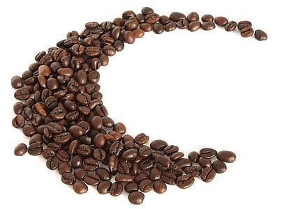 cafè, grans de cafè, torrat, moldre, cafeïna, corba, fons