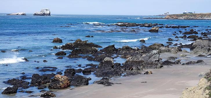 Vaikse ookeani, sinine, vee, kivi, suvel, Vaade, Ameerika Ühendriigid