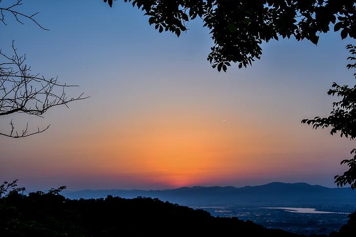 posta de sol, el paisatge