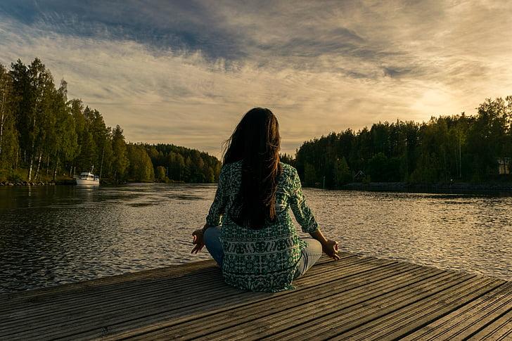 tập yoga, ngoài trời, Thiên nhiên, người phụ nữ, thể dục, tập thể dục, sức khỏe