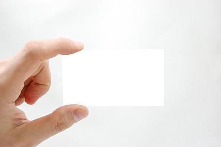 äri, käsi, turundus, visiitkaart, ettevõttest, tühi, inimese käsi