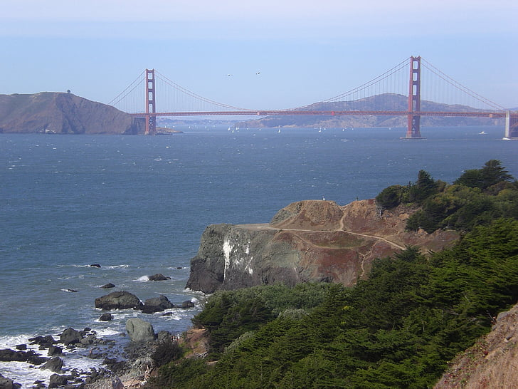 Visa, Golden gate, San francisco, San Francisco County, Kalifornien, Golden gate-bron, havet