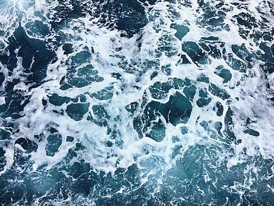 Mar, oceà, blau, l'aigua, ones, natura, ona
