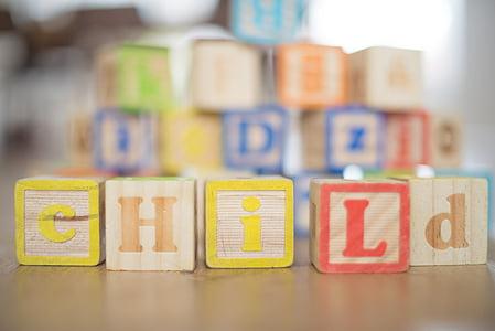 nen, fusta, blocs, nen, infantesa, diversió, persones