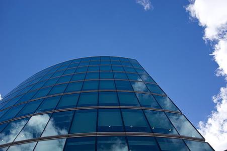 immeuble de bureaux, bâtiment en verre, moderne, architecture, Bureau