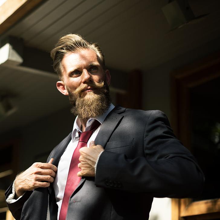 adult, beard, businessman, confidence, contemporary, corporate, courage