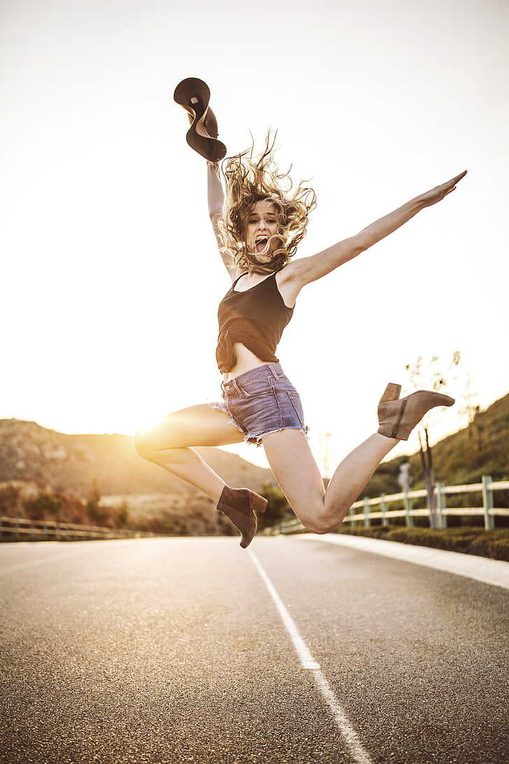 tegevus, täiskasvanu, sportlane, blur, päevasel ajal, nautida, emane