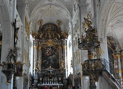 Hofkirche, residenzschloss, Castell principal un donau d, Baviera, l'església, Dom, Catòlica