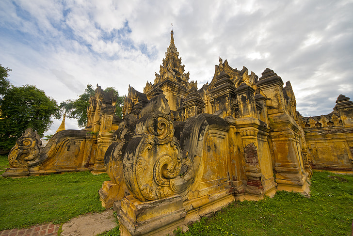 Cestovanie, Mjanmarsko, Barma, Ázia, chrám