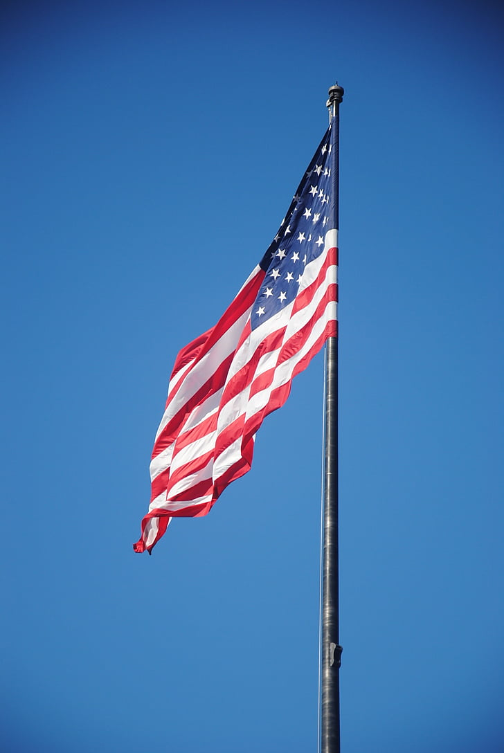 drapeaux, Dom, États-Unis, symbole
