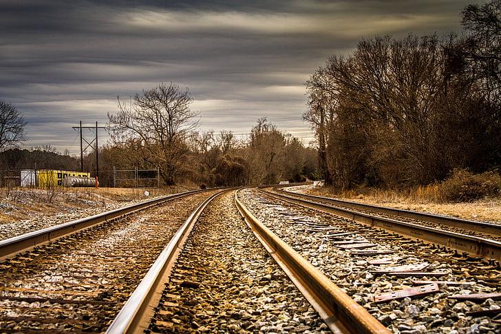 tren, carriles de, trenes, carril de, abandono, ferrocarril de, vias
