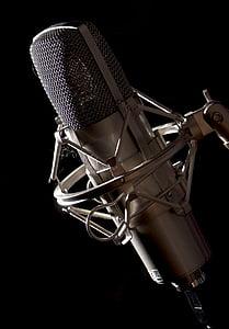 студійний мікрофон, мікрофон, запис, звук, запис звуку, аудіо, музика