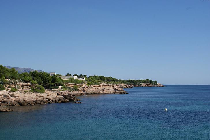 Середземне море, краєвид, берег моря, Іспанія