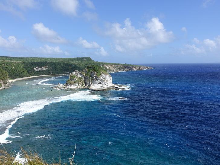 Saipan, platja de illa d'ocell