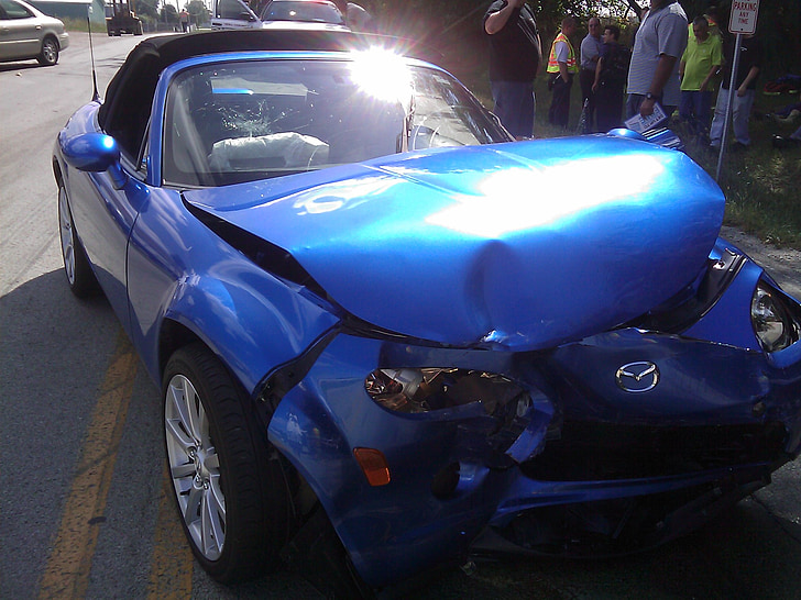 auto, õnnetuse, Crash, kukkus, Smash, puruks, auto