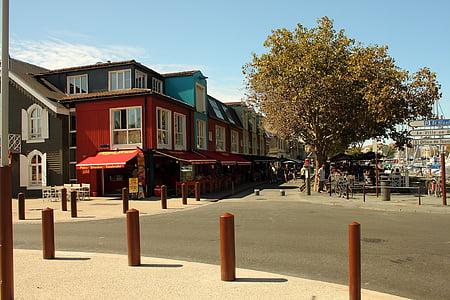 La rochelle, város, sétány, Port, mediterrán, Franciaország, történelmileg