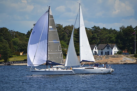 sail boat, sea, norway, nautical Vessel, sailboat, sailing, yacht