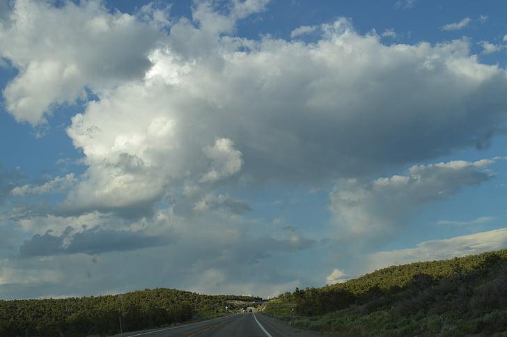 chuyến đi đường, bầu trời, đi du lịch, đường cao tốc, cuộc hành trình, Thiên nhiên, tuyến đường