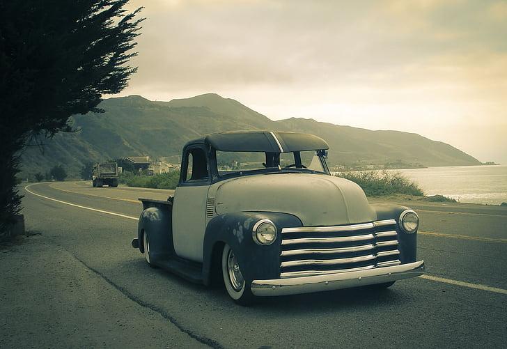 anyada, cotxe, platja, oceà, platja de la verema, cotxes d'època, Mar