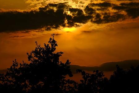 matahari terbenam, abendstimmung, langit, matahari, langit malam, senja, senja