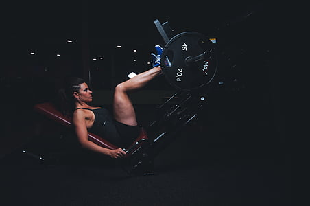 orang dewasa, atlet, gelap, energi, latihan, peralatan olahraga, Laki-laki