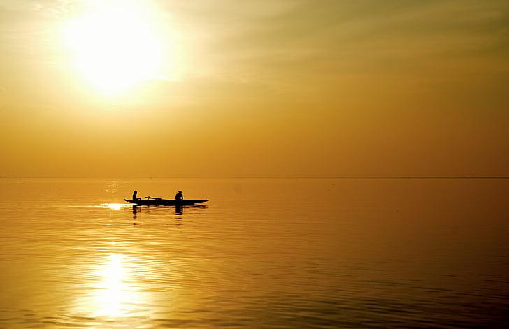 Ψάρεμα, Ήλιος, το βράδυ
