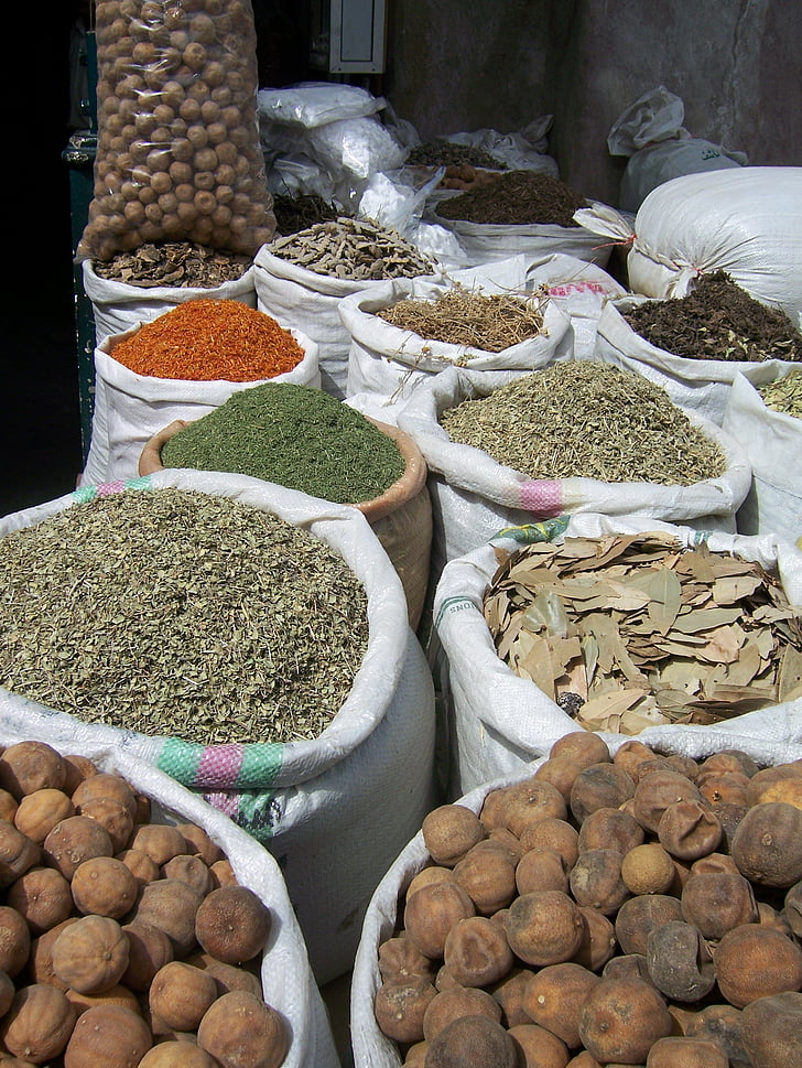 especias, especia, mercado, canela, colores, exóticos