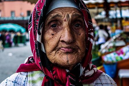 old woman, morocco, marrakech, berbere, marrakesh, africa, muslim